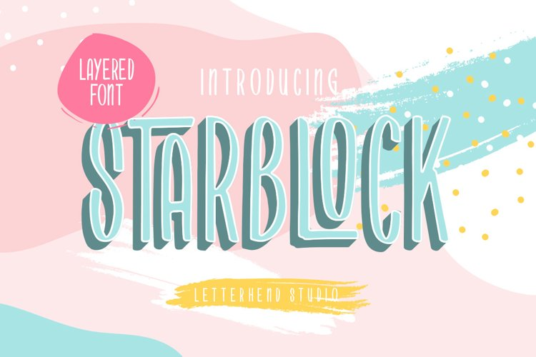 Starblock - Layered Font example image 1