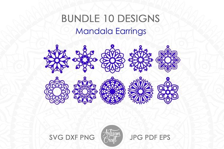 Mandala Earrings SVG, laser cut files