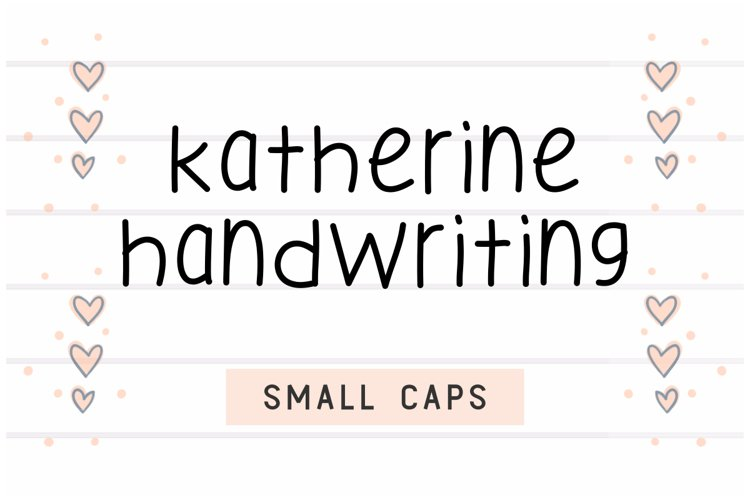 Katherine Handwriting example image 1