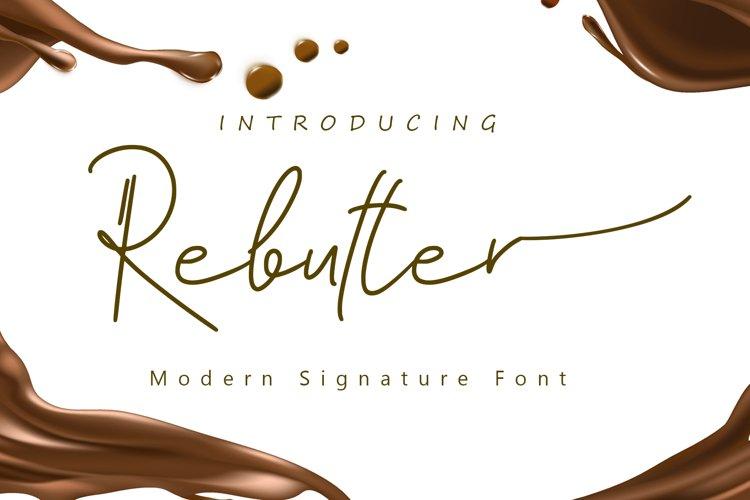 Rebutter // Fashionable Handwritten Font