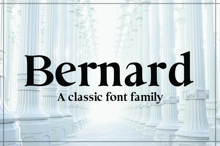 BERNARD, A Classic Typeface example image 1