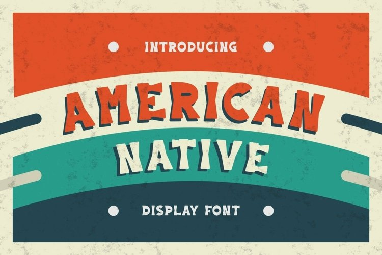Web Font American Native Font example image 1
