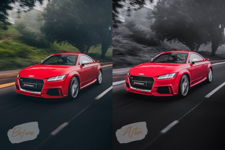 12 Automotive Mood Photoshop Actions, ACR, LUT Presets V.1 example image 1