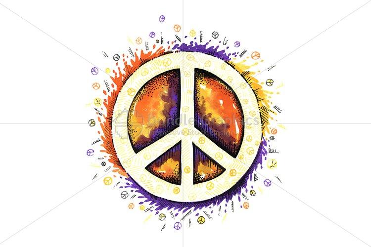Universal Symbol Of Peace - Creative Illustration example image 1