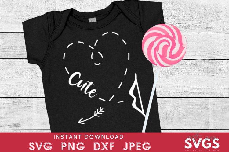 Kids valentines svg | cute heart svg | Cupid arrow svg example image 1