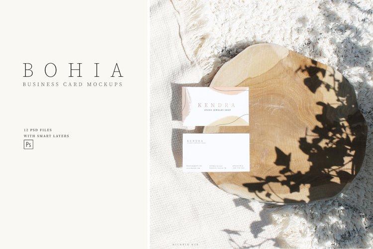 Bohia business card mockups, boho, styled, mockup, digital