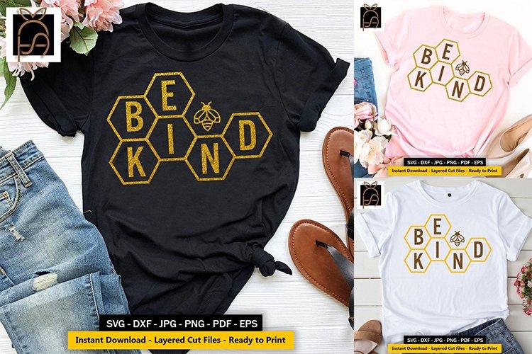 Bee kind - kindness - Bumblebee SVG DXF EPS PN