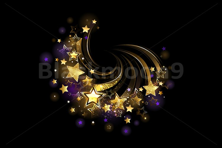 Flying Gold Stars example image 1