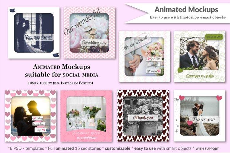 MOCKUP - Animated Instagram templates, Wedding, inc. custom example