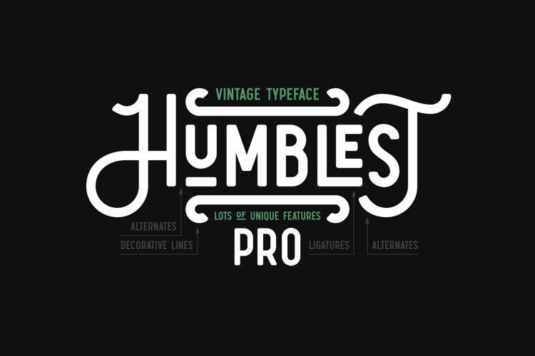 Humblest Pro Font example image 1