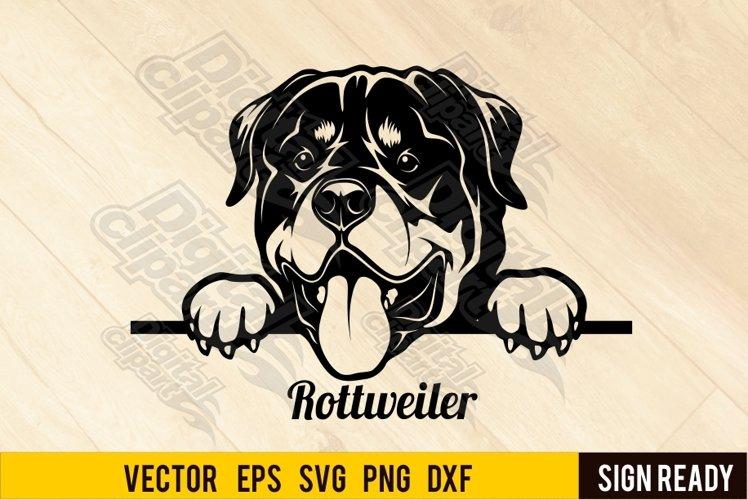 Peeking Rottweiler DOG SVG Clipart Vector Cut