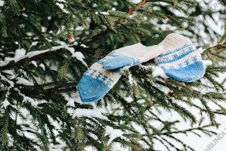 The concept of wintertime, holidays, New Year, Christmas. example image 1