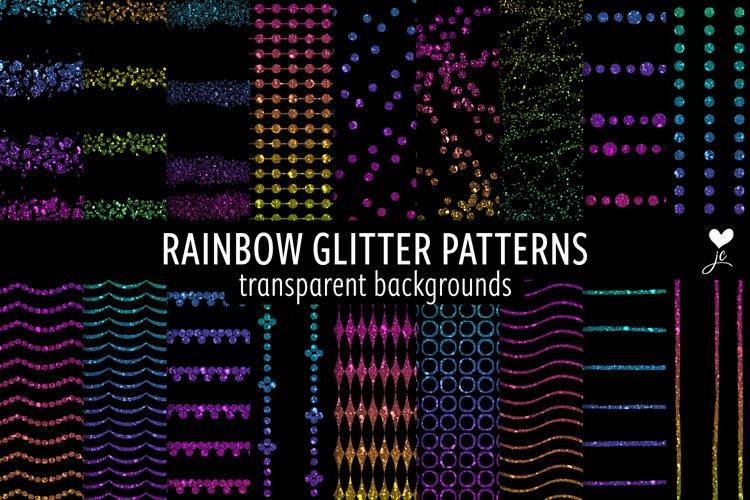 Rainbow Glitter Patterns example image 1
