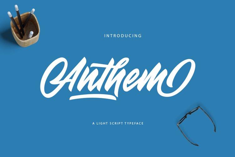 Anthem Typeface example