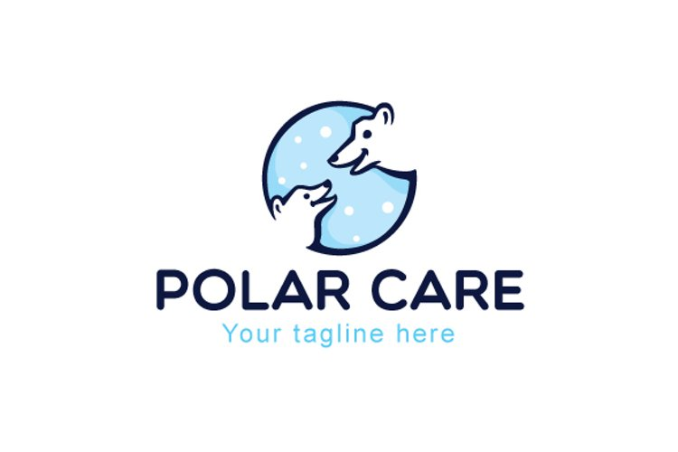 Polar Care - White Bear Stock Logo Design example image 1