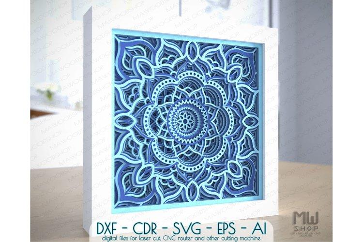 M150 - 3D Mandala Pattern Shadow Box Mandala SVG DXF