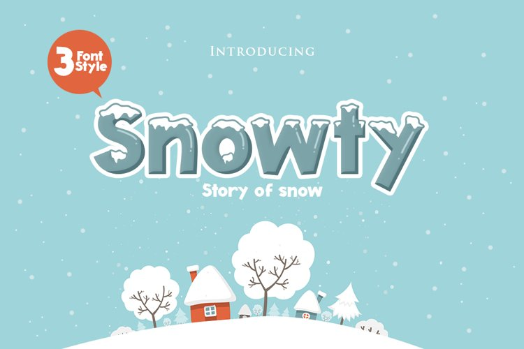 Snowty 3 Font example image 1