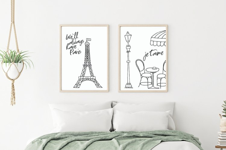 Paris Eiffel Tower Wall Art Printable example image 1