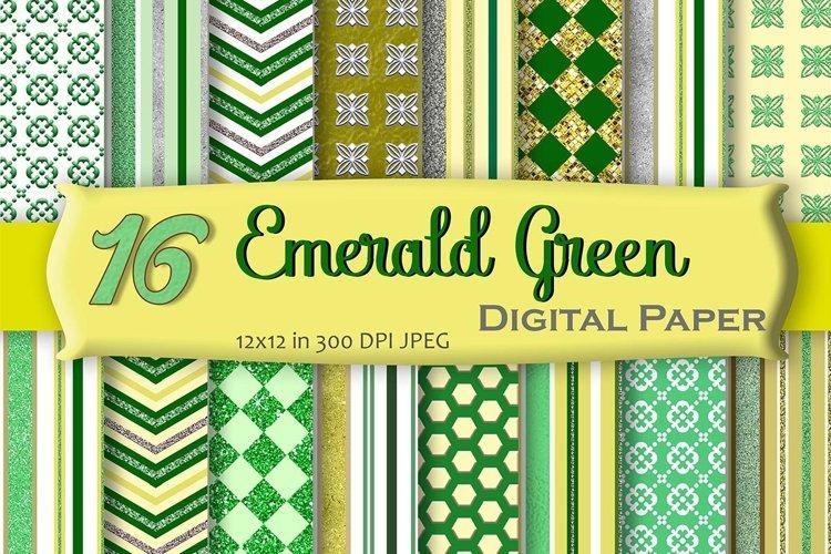 Emerald Green Digital Paper Pack example image 1