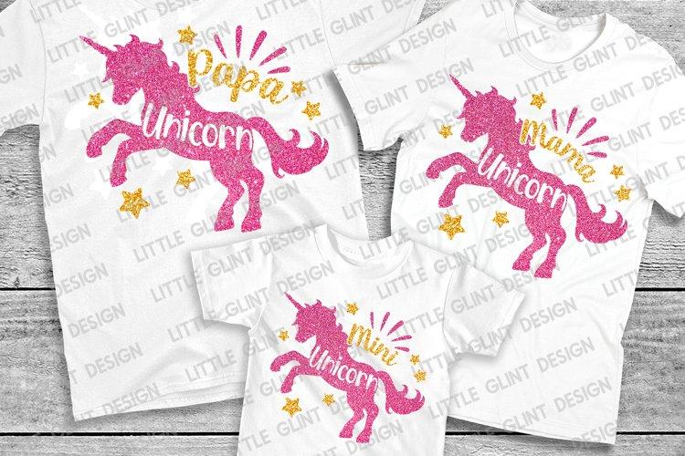 Unicorn Mama, Mother's Day Gift Shirt, Unicorn Svg Bundle example image 1