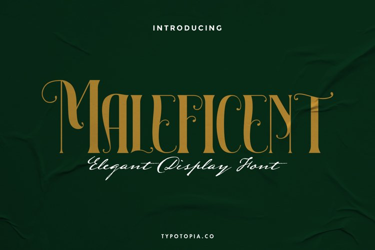 Maleficient The Elegant Display Font example image 1