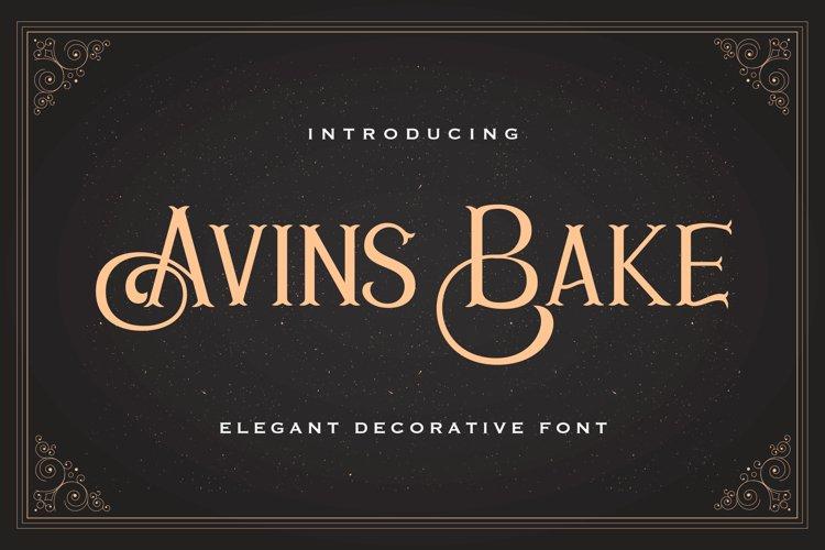Avins Bake - Decorative Serif Font example image 1