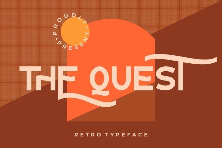 The Quest Retro Typeface example image 1