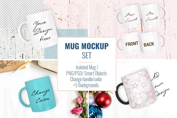 Mug mockup BUNDLE, Coffee Mug Mockup Set, Stock Photo 873