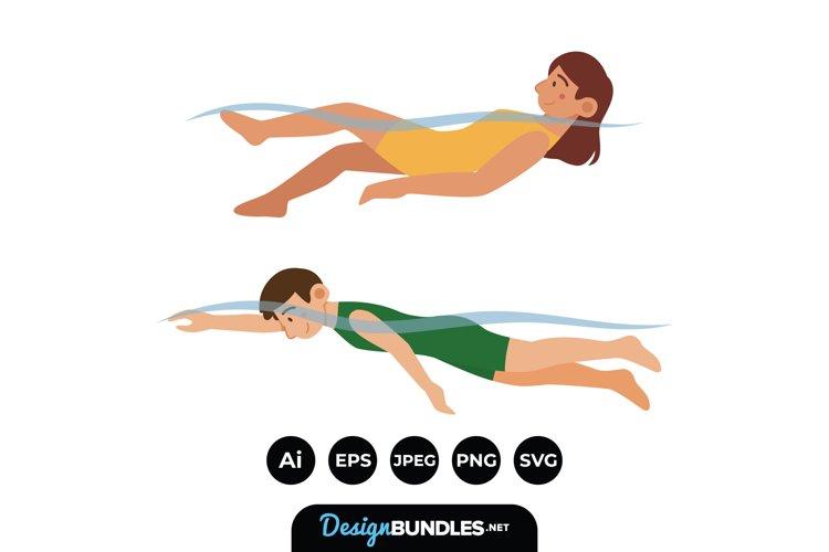 Swimming Illustrations