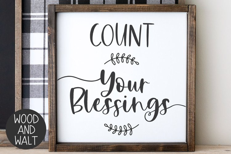 Count Your Blessings SVG | Autumn Cut File example image 1