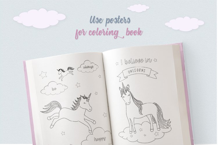 Cute Funny Unicorn Illustration Set - Free Design of The Week Design4
