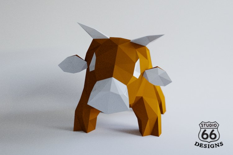 Highland cow, Papercraft Cow, 3d Papercraft, Paper Animal