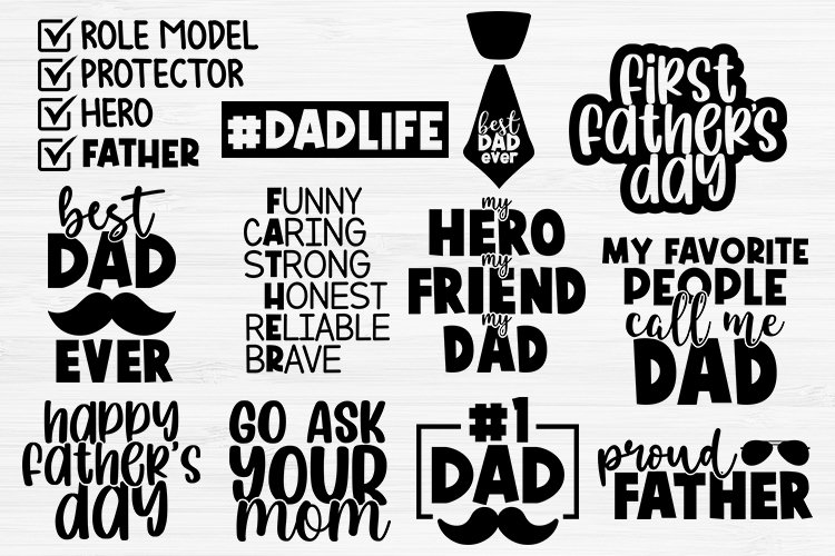 Fathers Day SVG Bundle, Dad Svg, Fathers Day SVG, Dad Life