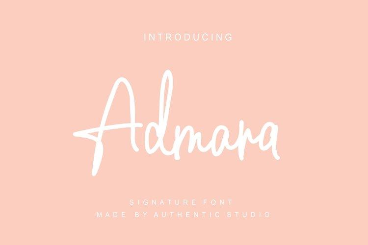 Admara Font example