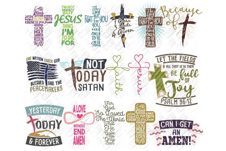 Christian Cross Bible Verse SVG DXF PNG JPEG EPS