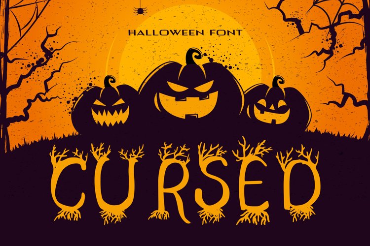 Cursed Halloween Font example image 1