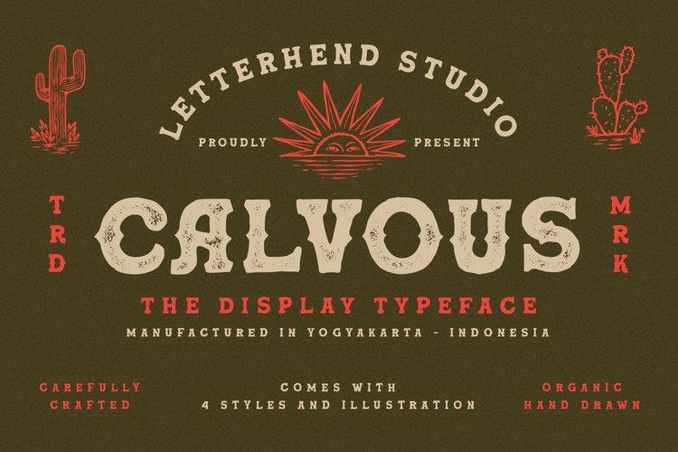 Calvous - Slab Serif Typeface example image 1