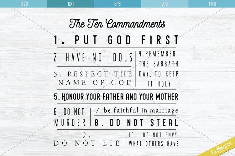The Ten Commandments SVG, 10 Commandments Cut File example image 1