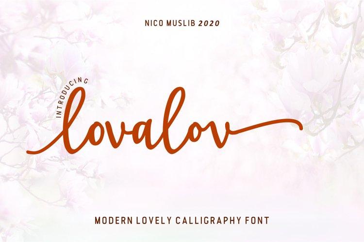 Lovalov lovely modern calligraphy example image 1