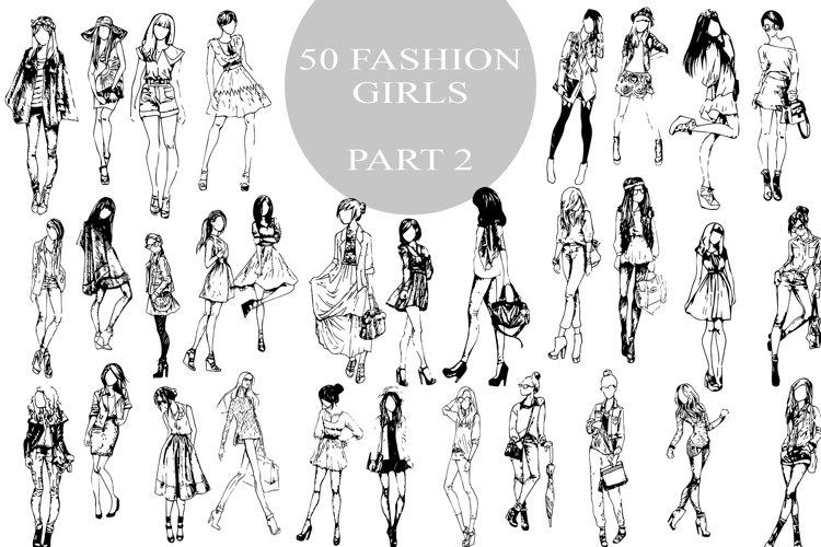 50 fashion pretty girls vector example image 1