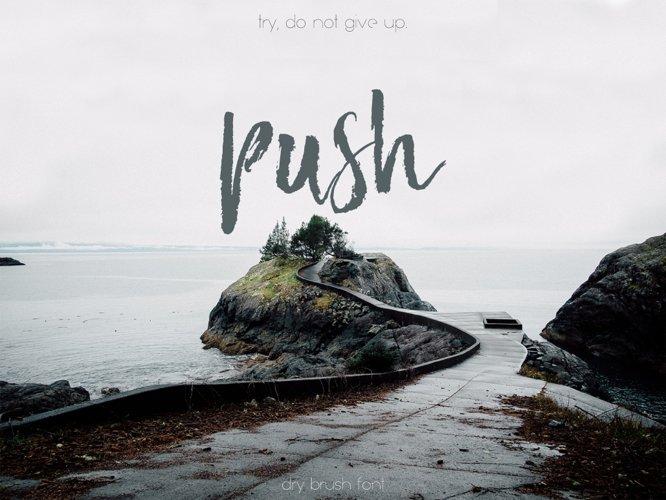 Push Font