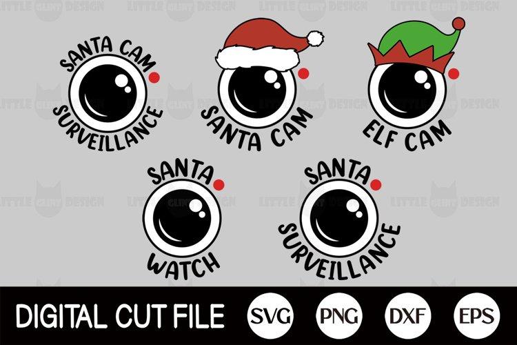 Santa Cam SVG Bundle, 2020, Christmas Ornament DXF Set