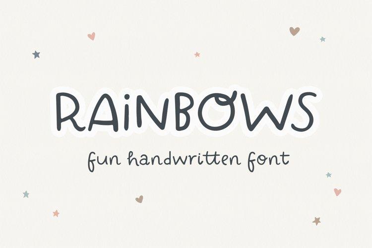 Rainbows | fun handwritten font
