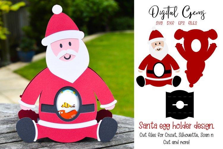 Santa, Christmas egg holder design SVG / DXF / EPS files example image 1