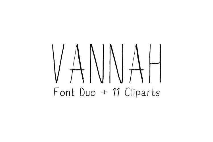 Vannah Font Duo + Bonus Clipart example image 1