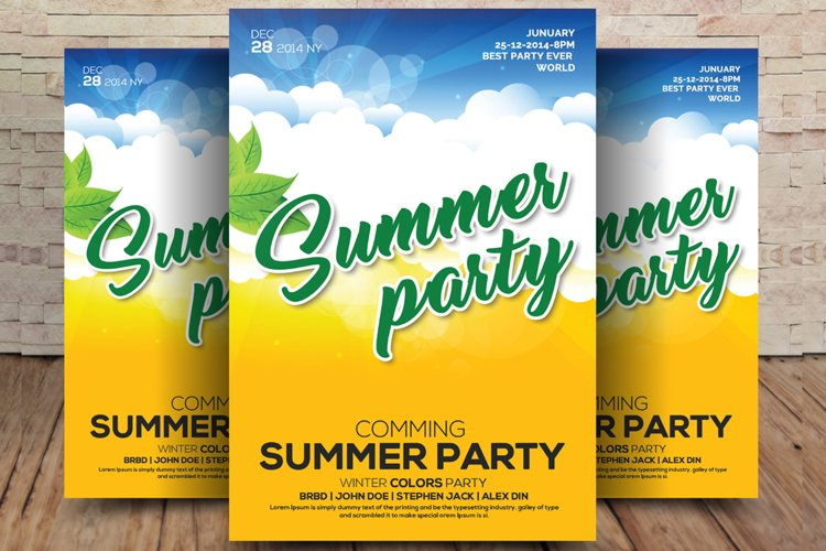 Latin Summer Party Flyer example image 1