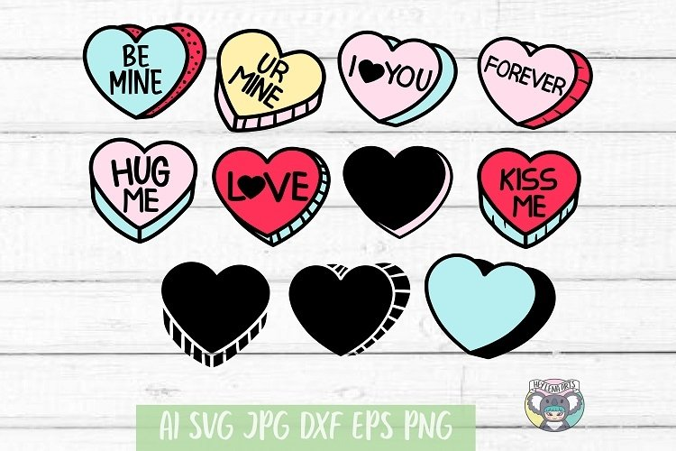 Valentines Day svg, Candy Hearts svg, Conversation Heart