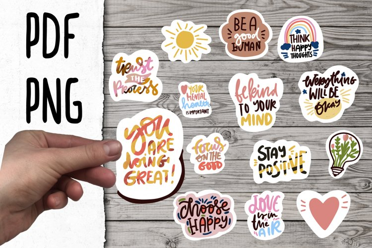 positive stickers bundle