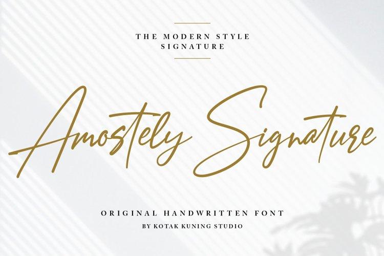 Signature Font - Amostely example image 1