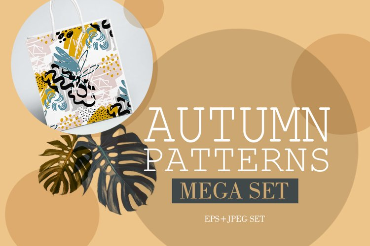 Autumn pattern Mega set example image 1